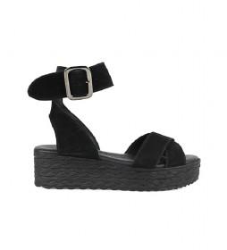 Sandalias de piel Athenea 01 negro