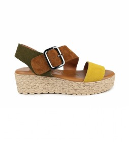 Sandalias de piel Athenea 02 multicolor