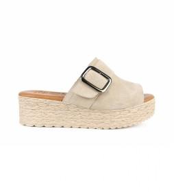 Sandalias de piel Athenea 04 beig