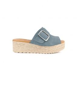 Sandalias de piel Athenea 04 jeans
