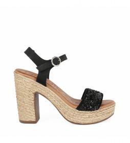 Sandalias de piel Bevel 04 negro  -altura tacón: 11cm-