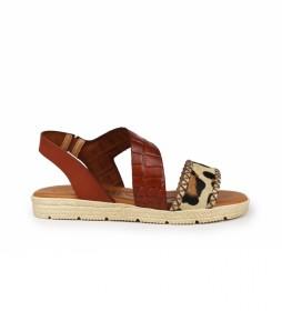 Sandalias de piel Beznar 05 cuero