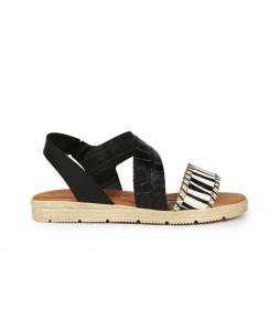 Sandalias de piel Beznar 05 negro