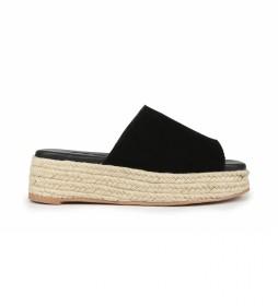Sandalias de piel Bonita 01 negro