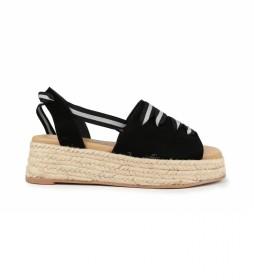 Sandalias de piel Bonita 02 negro