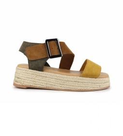Sandalias de piel Bonita 03 multicolor