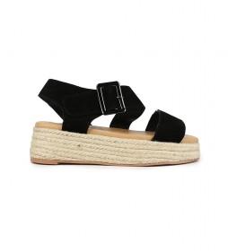 Sandalias de piel Bonita 03 negro