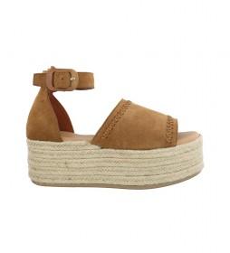 Sandalias de piel Bonna 05 cuero -altura plataforma: 6cm-