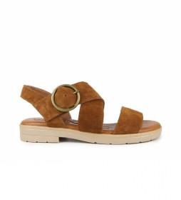 Sandalias de piel  Bulma 04 marrón