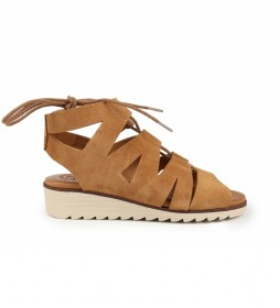 Sandalias de piel Filipinas 13 cuero  -Atura cuña + plataforma: 4cm-