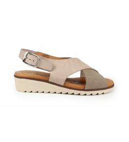 Sandalias de piel Filipinas 14 taupe