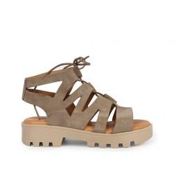Sandalias de piel Marion 01 piedra