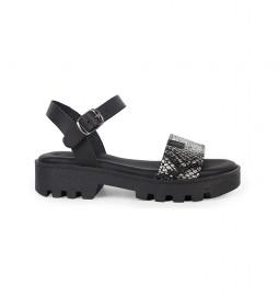 Sandalias de piel Marion 03 negro