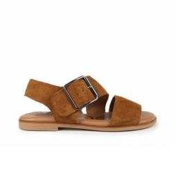 Sandalias de piel Naira 01 marrón