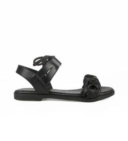 Sandalias de piel Naira 02 negro