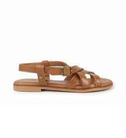 Sandalias de piel Naira 03 marrón