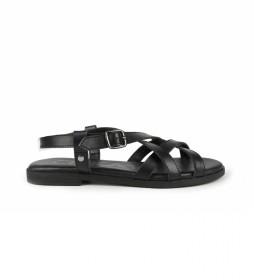 Sandalias de piel Naira 03 negro