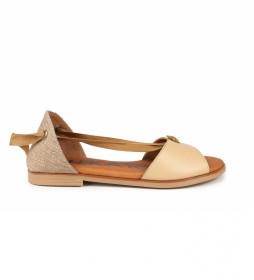 Sandalias de piel Naira 04 beige