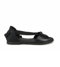 Sandalias de piel Naira 04 negro