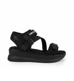 Sandalias New agora 15 negro -Altura de la cuña: 5cm
