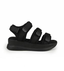 Sandalias New agora 16 negro -Altura de la cuña: 5cm