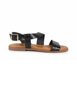 Sandalias de piel Nicol 01 negro