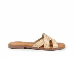Sandalias de piel Nicol 02 beig