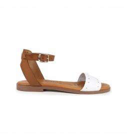 Sandalias de piel Nicol 04 blanco