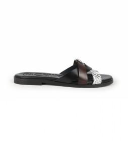 Sandalias de piel Nicol 06 negro