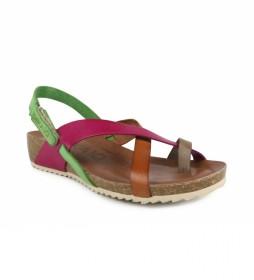 Sandalias de piel Orbita 03 multicolor -altura cuña: 6cm-