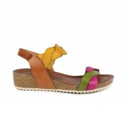 Sandalias de piel Orbita 04 multicolor -altura cuña: 7cm-