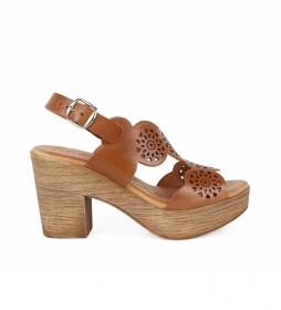 Sandalias de piel Alois 2034 nogal -Altura tacón: 8cm-