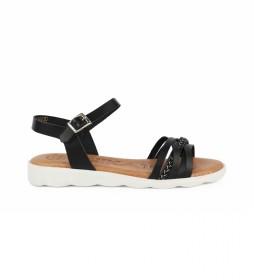 Sandalias de piel Indonesia 03 negro