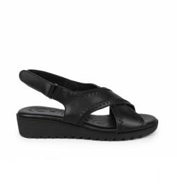 Sandalias de piel New filipinas 03 negro