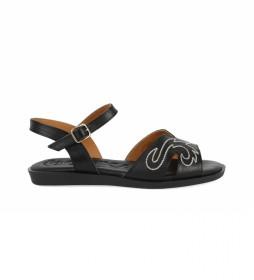 Sandalias de piel Talara 01 negro