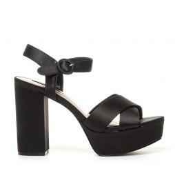 Sandalias New Taylor 01 negro raso -Altura tacón: 12cm-