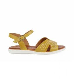 Sandalias de piel Talara 01 mostaza