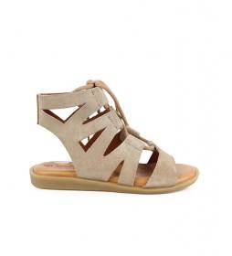 Sandalias de piel Talarita 07 piedra