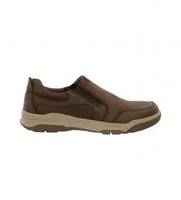 Zapatillas de piel Leon 01 marron