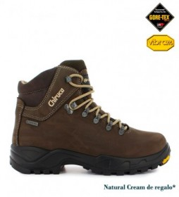 Chiruca Waterproof leather boots Cares Gore-Tex brown -629g-