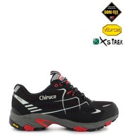 Chiruca Zapatillas trail running Spider Gore-Tex negro, rojo -367g-