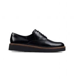 Zapatos de piel Baille Stitch negro