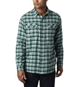 Camisa de Franela Elástica Flare Gun verde