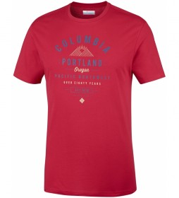 Columbia T-shirt Leathan Trail red