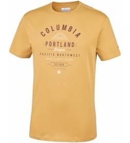 Columbia T-shirt Leathan Trail yellow