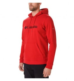 Columbia Sweatshirt CSC Basic Logo Hoodie red