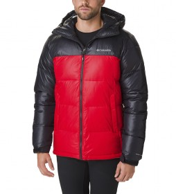 Columbia Pike Lake Hooded Jacket red