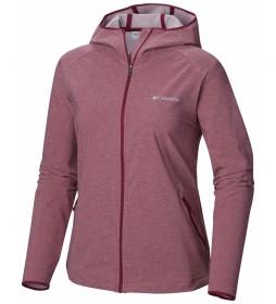 Columbia Softshell jacket Heather Canyon burgundy
