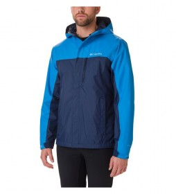 Columbia Mens Pouring Adventure Jacket J blue