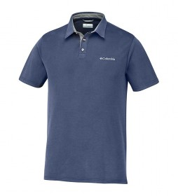 Columbia Nelson Marine Point Polo -+size.
